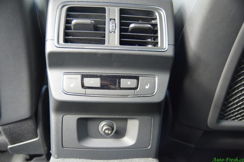 Audi SQ5 Ovládání třízónové klimatizace