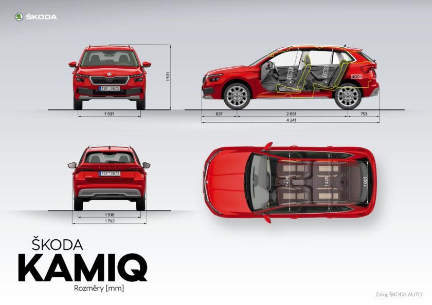 Škoda Kamiq rozměry