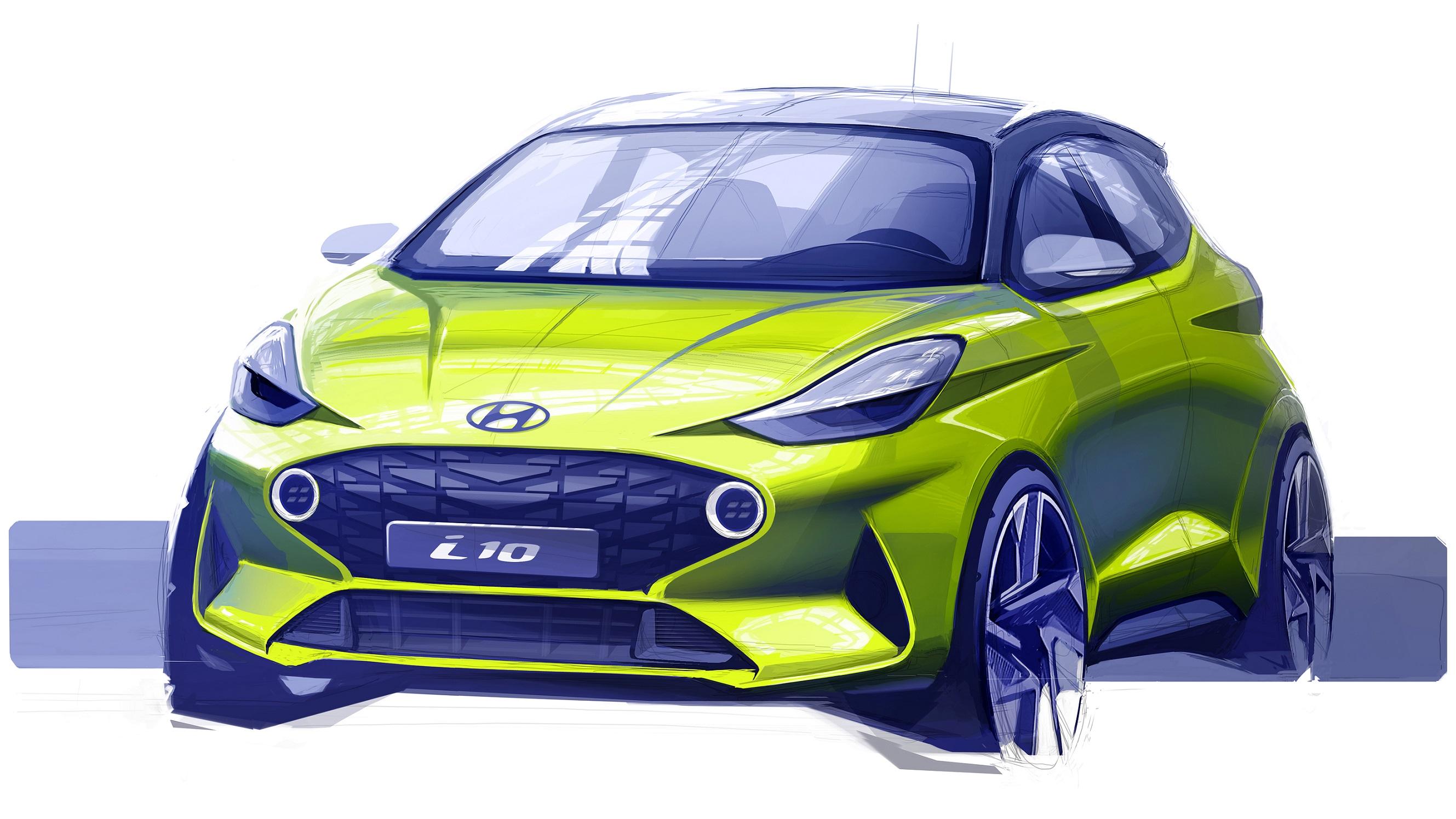 Hyundai i10 skica