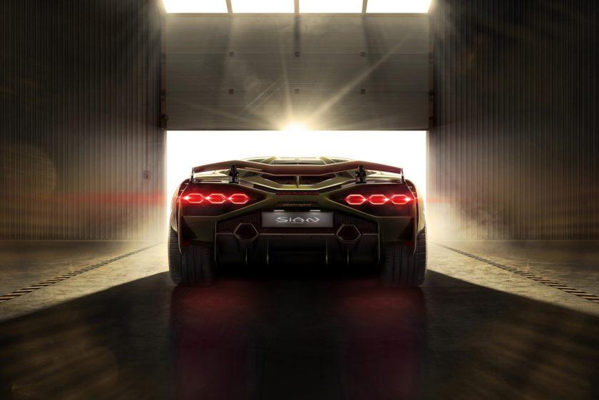Lamborghini Sián zadní světla