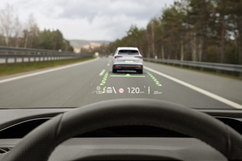 Head up displej Škoda